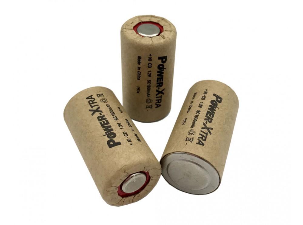 باتری جارو شارژی 1.2 ولت 1800mAh مارک Power Xtra