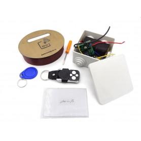 دستگاه در بازکن دوتیکه RFID 13.56MHZ به همراه ریموت کنترل با امنیت بالا
