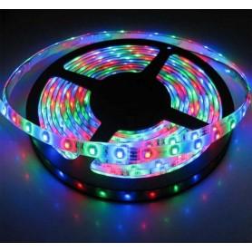 LED نواری RGB درشت 5050 60Pcs ضد آب رول 5متری