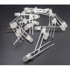 LED سفید مات 3mm بسته 20 تایی