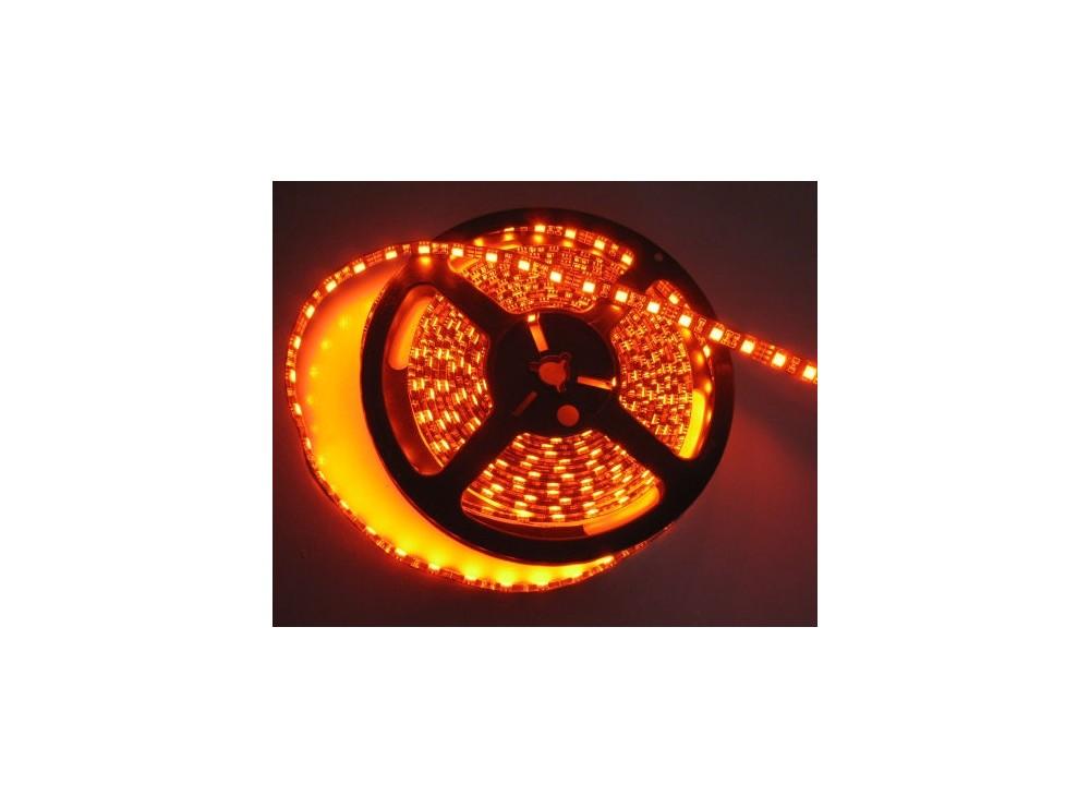 LED نواری نارنجی درشت 5050 60Pcs ضد آب رول 5متری