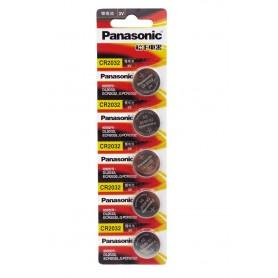 باتری سکه ای 3 ولت CR2032 ورق 5 تایی مارک Panasonic