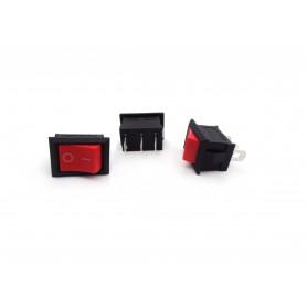 کلید راکر دوحالته سه پین قرمز 19X12X12mm