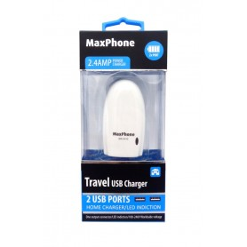 آداپتور 5 ولت 2.4A با دو خروجی USB مارک Maxphone مدل MX-C013