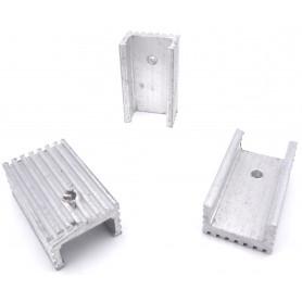هیت سینک آلومینیومی سایز 2.5x1.5x1.0 بسته 5 تایی