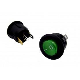 کلید راکر گرد چراغدار سبز بسته 5 تایی