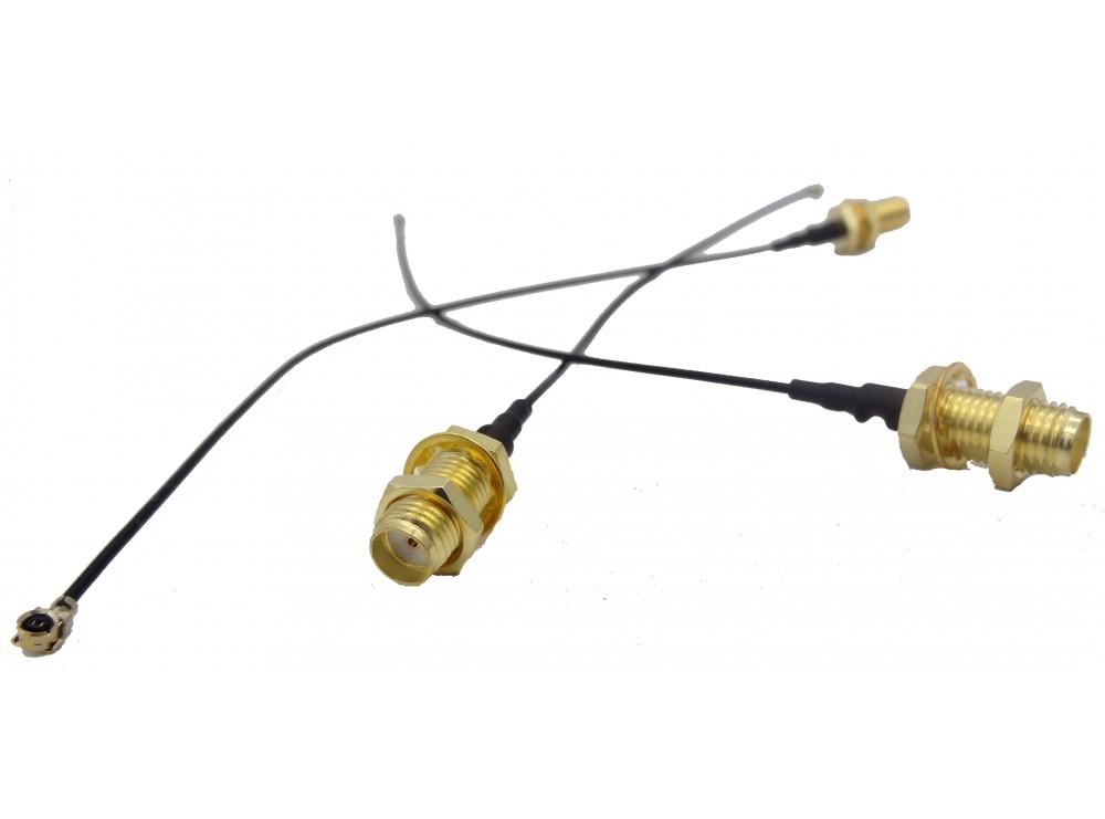 رابط UFL to SMA-F - مبدل آنتن IPX به SMA-F - افزایش طول سوکتی