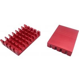هیت سینک مخصوص پردازنده و تراشه های SMD رنگ قرمز سایز 25x18x5mm