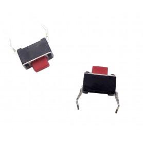 تک سوئیچ ریموتی 3x6x5mm قرمز دو پایه