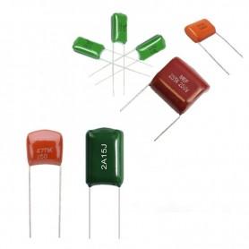 خازن پلی استر 1uF / 400V بسته 10 تایی