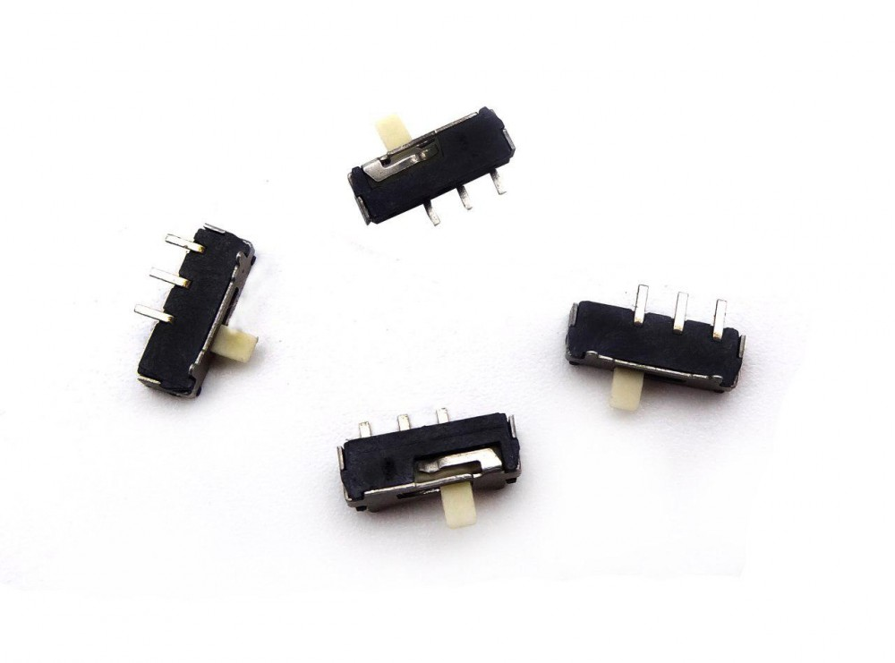 کلید دو حالته کشویی ریز 3 پین SMD مدل SL