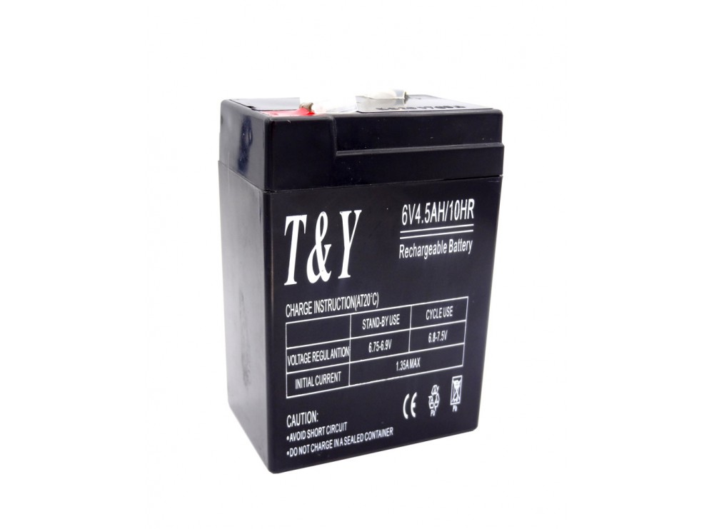 باتری خشک 6 ولت 4.5 آمپر ساعت مارک T&Y
