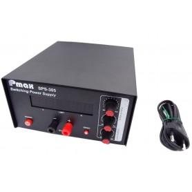 منبع تغذیه دیجیتال 0 تا 30 ولت 5 آمپر Pmax مدل SPS-305