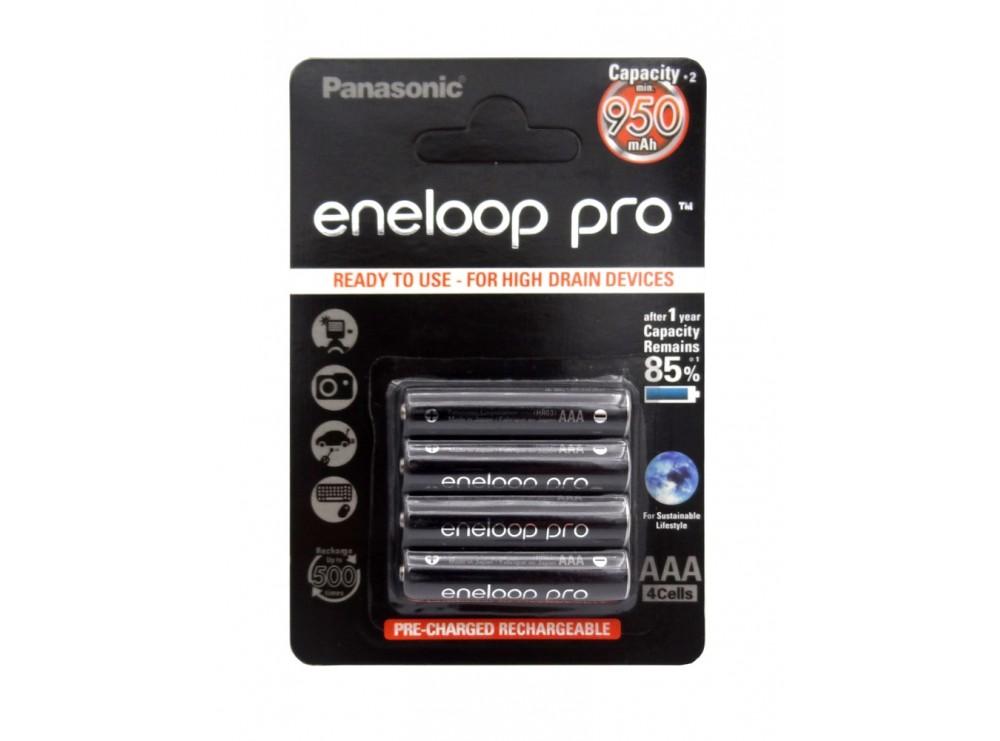 باتری نیم قلمی eneloop pro قابل شارژ 950mAh چهارتایی مارک Panasonic