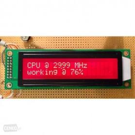 LCD کاراکتری 2x20 بک لایت قرمز