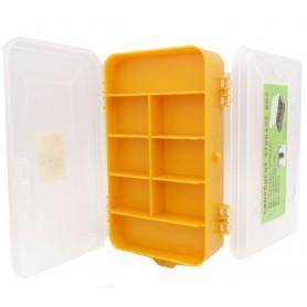 جعبه قطعات زرد دو تکه 165x95x45