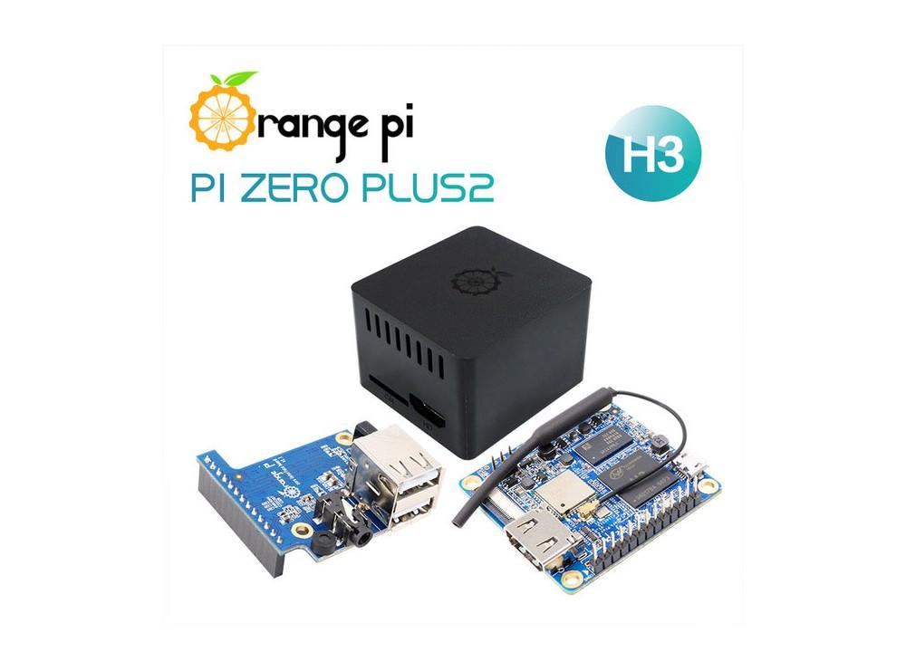 برد چهار هسته ای Orange Pi Zero Plus 2 مدلH3 + کیس + برد توسعه USB