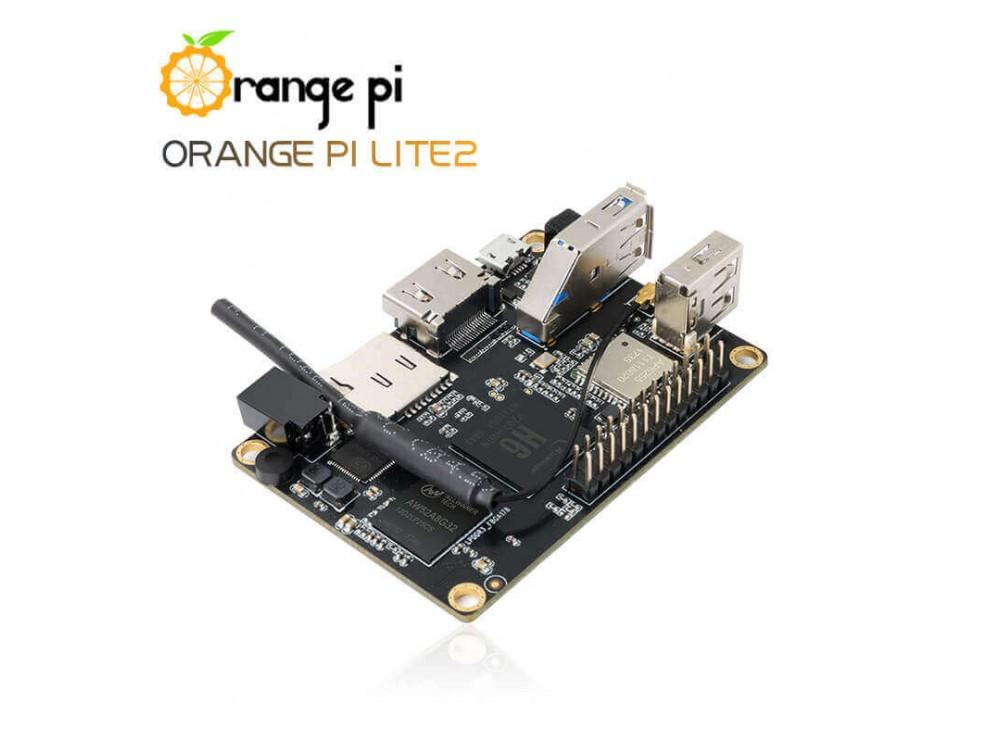 برد چهار هسته ای 64 بیتی Orange Pi Lite 2 دارای RAM 1GB و قابلیت بوت اندروید / Ubuntu
