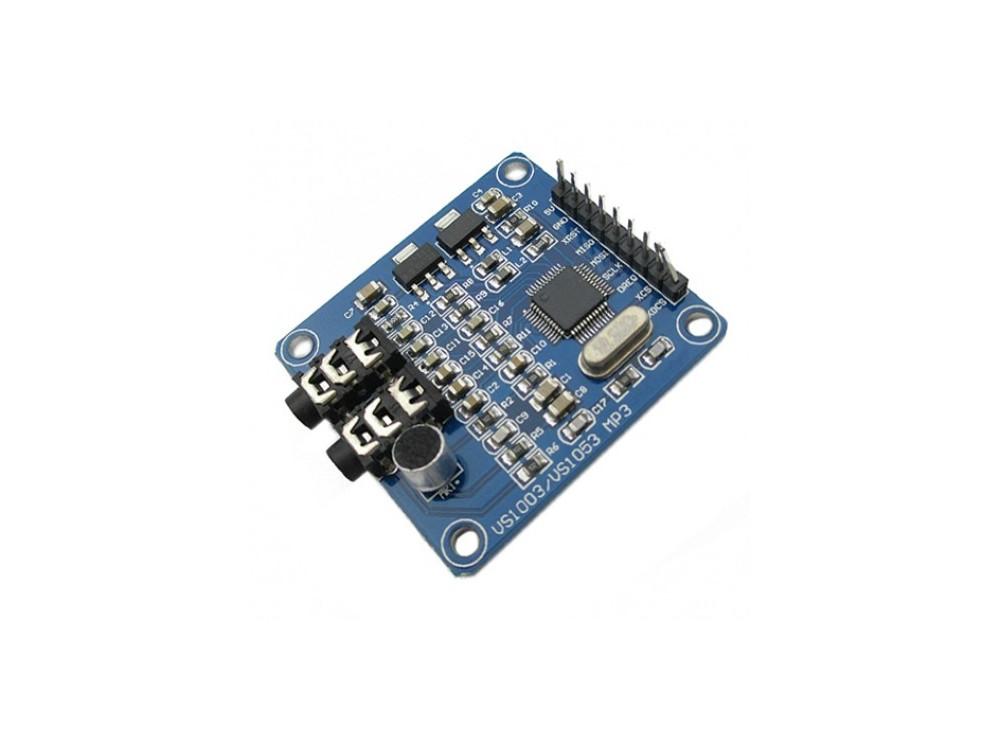 ماژول پخش فایل های صوتی VS1003B / VS1053دارای امکان ضبط صدا