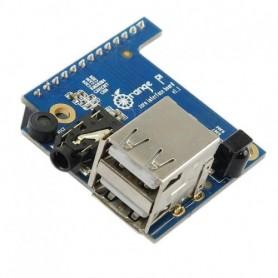 شیلد برد Orange Pi Zero دارای دو پورت USB ، رسیور IR ، میکروفن و خروجی AV