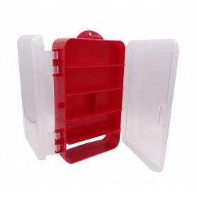 جعبه قطعات قرمز دو تکه 200x120x55