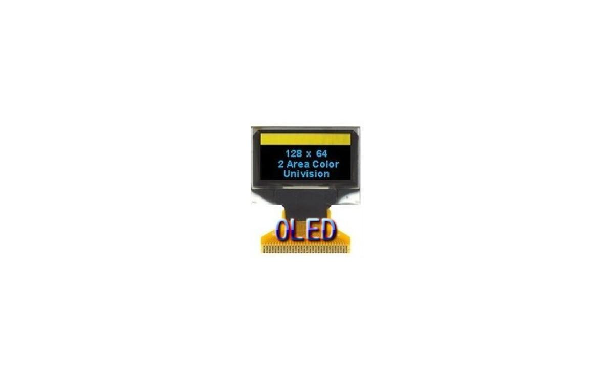 OLED 128x64 0.96 inch تک رنگ