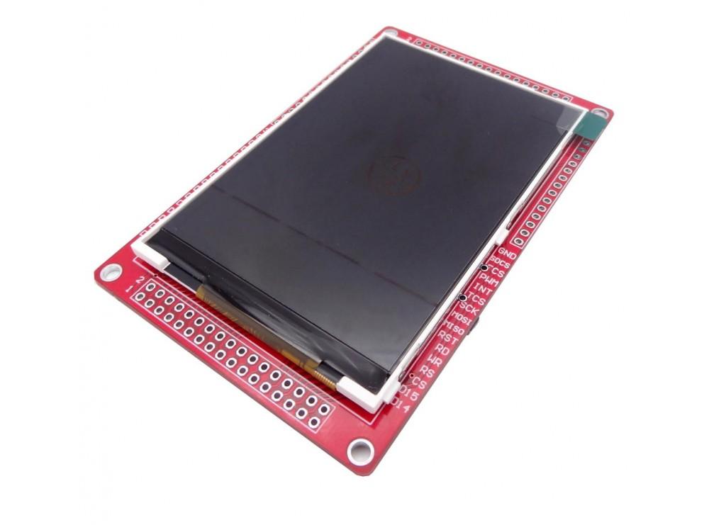 """ماژول نمایشگر """"LCD 3.5 تمام رنگی بدون تاچ"""