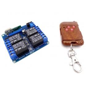 فرستنده گیرنده 4 کاناله 315MHZ رادیویی با ریموت کد فیکس