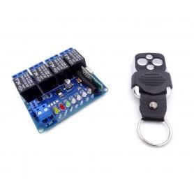 فرستنده گیرنده 4 کاناله 433MHZ رادیویی با ریموت کد لرن