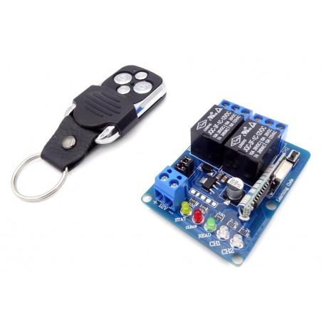 فرستنده گیرنده 2 کاناله 315MHZ رادیویی با ریموت کد لرن