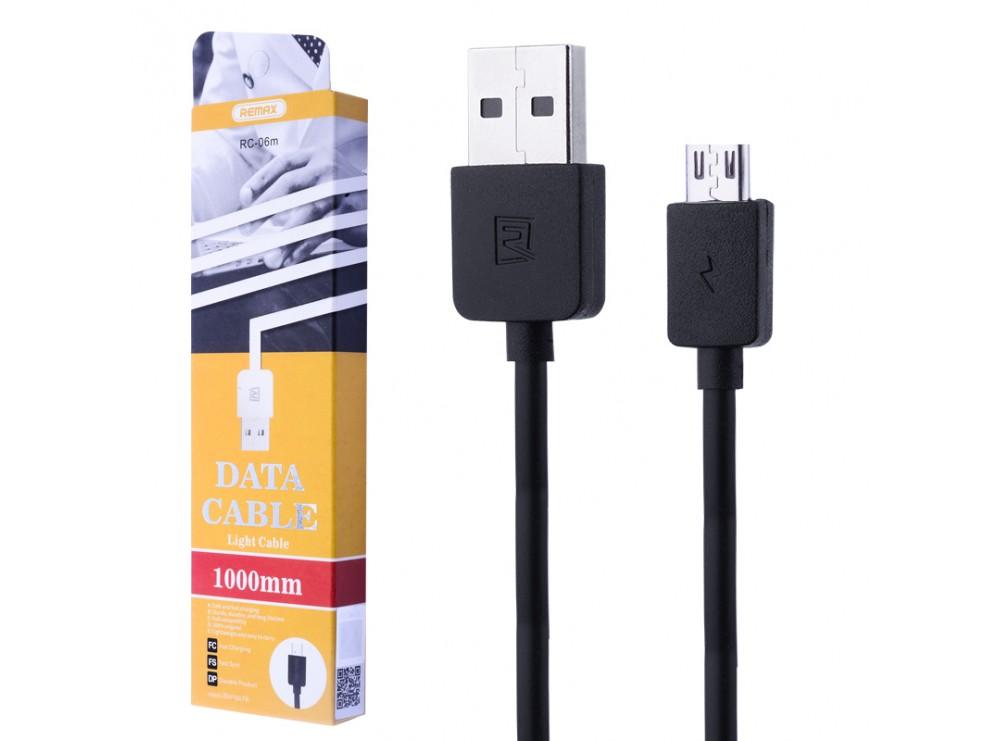 کابل فست شارژ USB Micro ریمکس مدل RC-06m