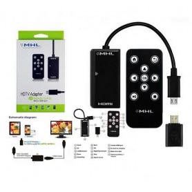 کابل تبدیل MHL تلویزیون مبدل میکرو USB به HDMI ریموت دار