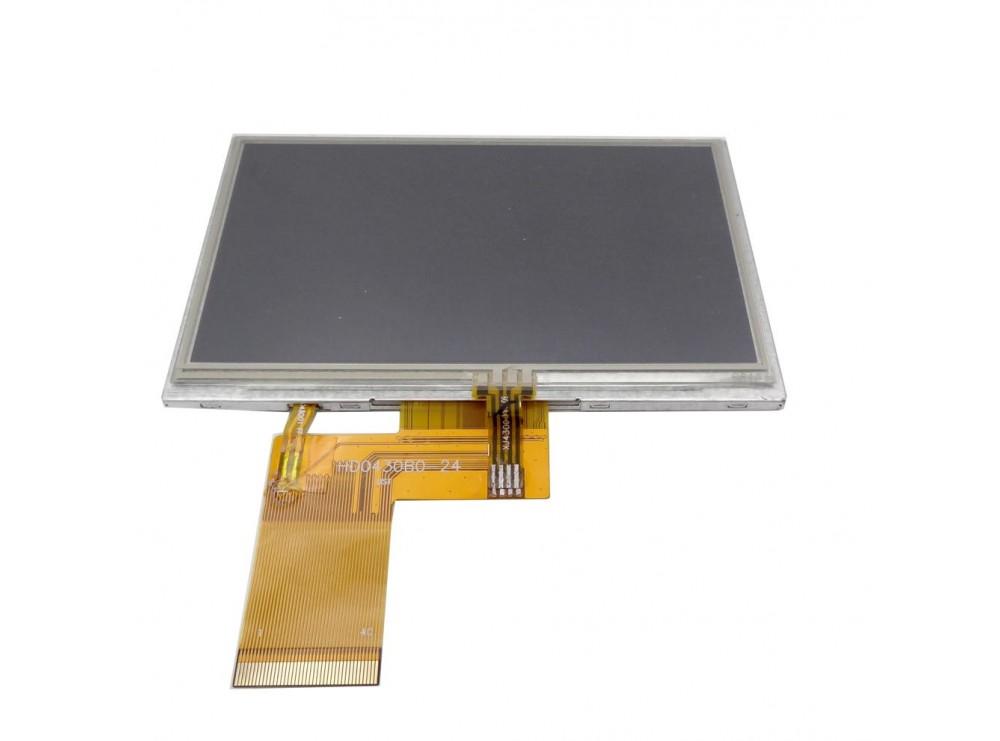 نمایشگر تمام رنگی 4.3 اینچی به همراه تاچ اسکرین TFT LCD