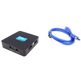 ریدر و هاب 4 پورت USB 3.0 مدل رومیزی