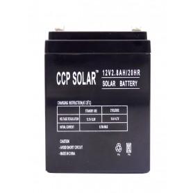 باتری خشک 12 ولت 2.8 آمپر ساعت مارک CCP Solar