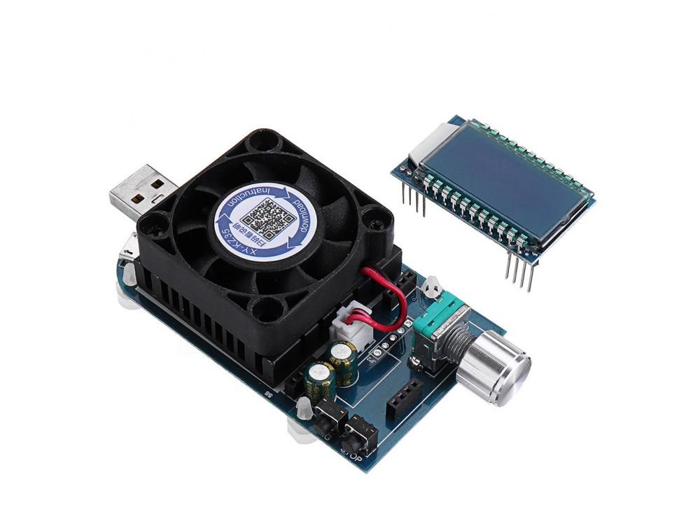 لود تستر باتری 4A-25W مدل KZ25 با 3 پورت USB