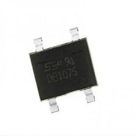 پل دیود 1000V-1A مربعی DB107S پکیج SMD