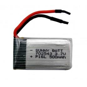 باتری لیتیوم پلیمر 3.7v ظرفیت 500mAh مرغوب مارک SUNNYBATT