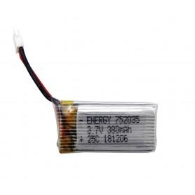 باتری لیتیوم پلیمر 3.7v ظرفیت 380mAh تک سل 25C مارک Energy