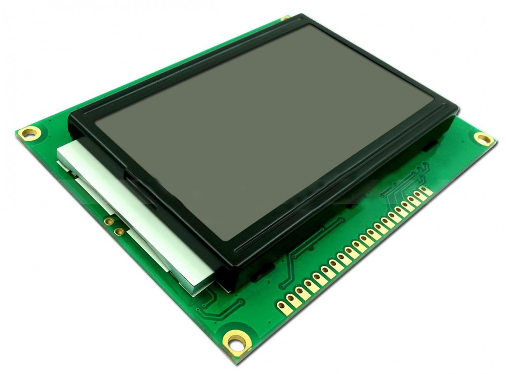نمایشگر GLCD 64x128 گرافیکی بک لایت سبز فریم کوچک با درایور ST7920