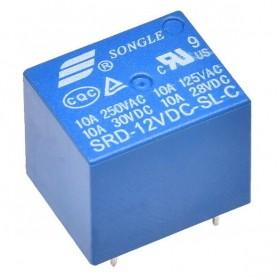 رله 12V-10A پایه میلون T73 مارک SONGLE کد SRD-12VDC-SL-C