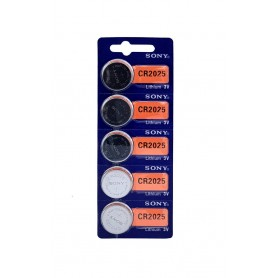 باتری سکه ای 3 ولت CR2025 ورق 5 تایی مارک Sony