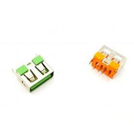 كانكتور USB-A مادگی ایستاده کوتاه 10mm رنگ نارنجی