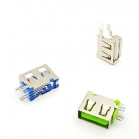 كانكتور USB-A مادگی ایستاده رایت کوتاه 10mm رنگ سفید