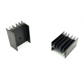 هیت سینک آلومینیومی مشکی 30x23x15mm