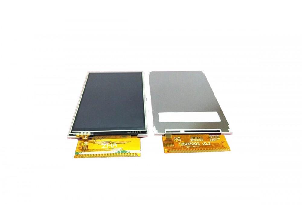 """نمایشگر """"TFT LCD 3.5 رنگی به همراه تاچ اسکرین"""