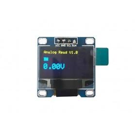 ماژول OLED 0.96 I2C دو رنگ زرد-آبی رزولیشن 128x32
