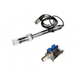 پک سنسور PH مدل E-201-C به همراه سنسور دما سازگار با آردوینو