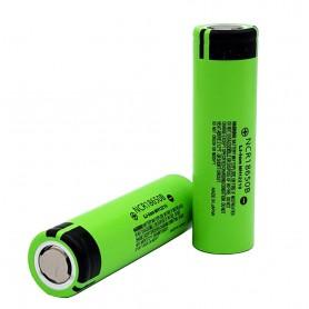 باتری لیتیوم یون 3.7v سایز 18650 3350mAh مارک Panasonic