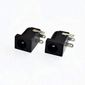 جک آداپتوری مادگی مشکی استاندارد DC-005 قطر پین 2.35mm